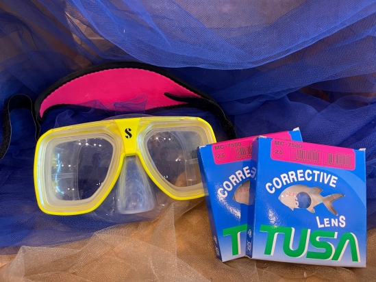 Prescription Masks Can Help You See In The Water!