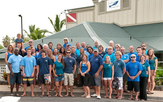 The Staff of Jack's Diving Locker, Kailua Kona, Hawaii