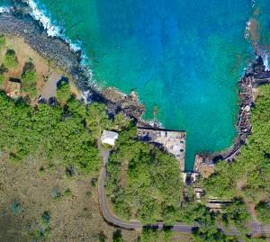 Mahukona Shore Dive Site aerial photo