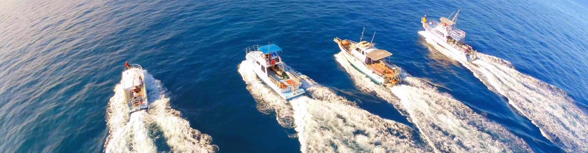 Jack's Diving Locker Boats - Aerial